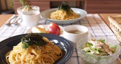 Japanese Spaghetti with seasoned cod roe (Mentaiko)