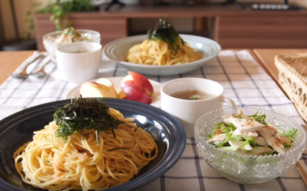 How To Cook Japanese Spaghetti With Seasoned Cod Roe Mentaiko Japanese Recipes